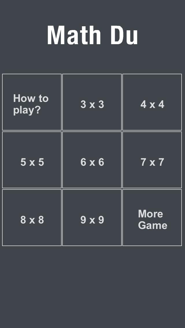 点击获取MathDu-It is funny than Sudoku!