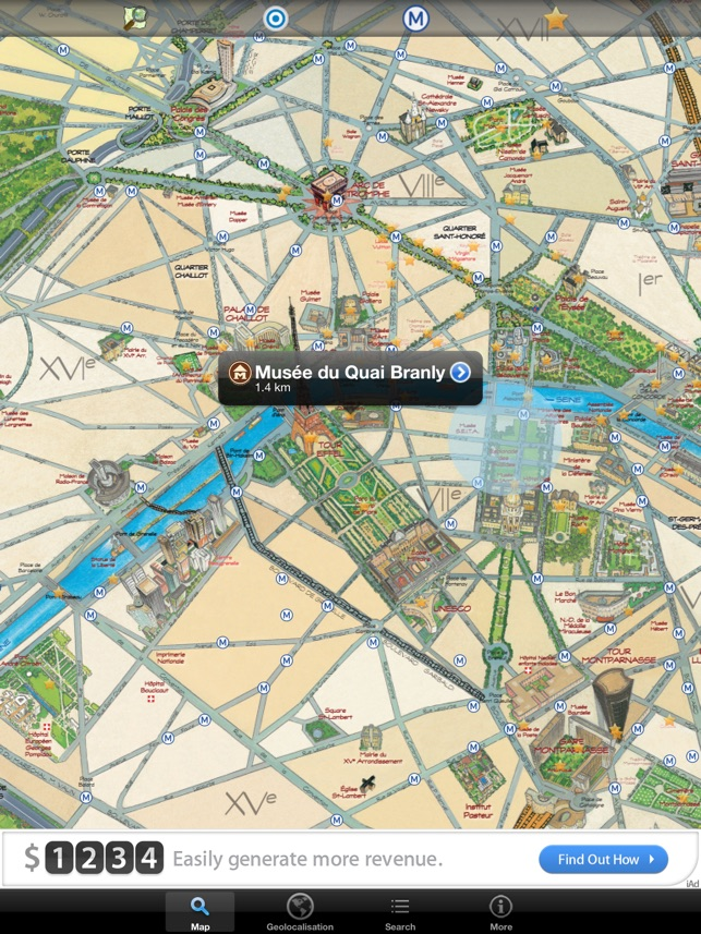 Map Of Paris And Attractions%0A Discover Paris  maps  metro  u     monuments  free version on the App Store