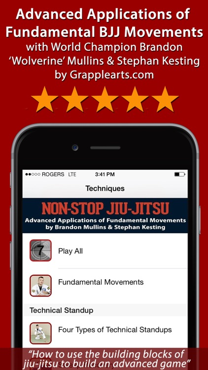 Advanced Fundamentals of Brazilian Jiu-Jitsu by Brandon Mullins and Stephan Kesting screenshot-0