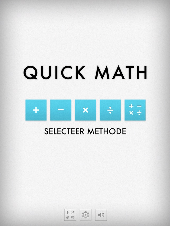 Quick Maths - Arithmetic & Times Table Game Screenshot