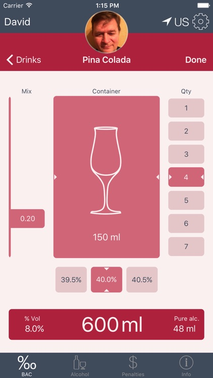 BACApp-Blood Alcohol Content (BAC) Calculator