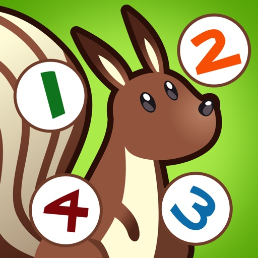 Forest counting game for children: Learn to count the numbers 1-10 with the animals of the woods iOS App