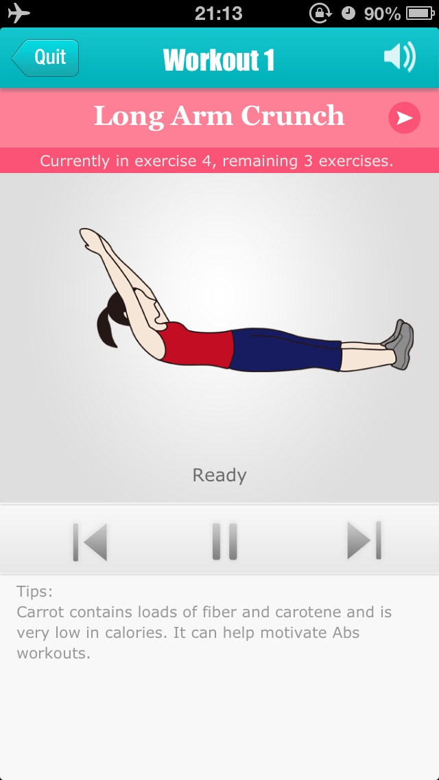 Abs Workouts - Getting A Perfect Belly in 12 Days Screenshot