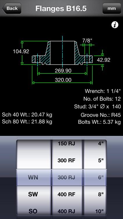 Piping DataBase - Flanges screenshot-3