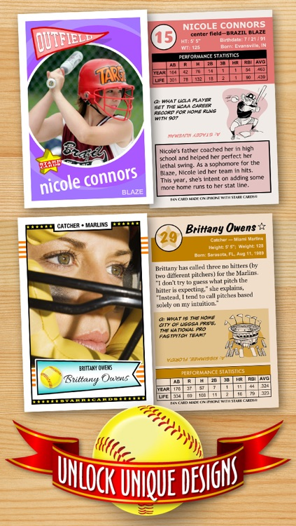 Softball Card Maker - Make Your Own Custom Softball Cards with Starr Cards screenshot-2