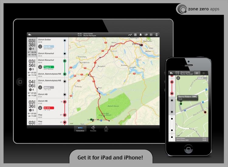 Swiss Transit Free (for iPad) screenshot-4