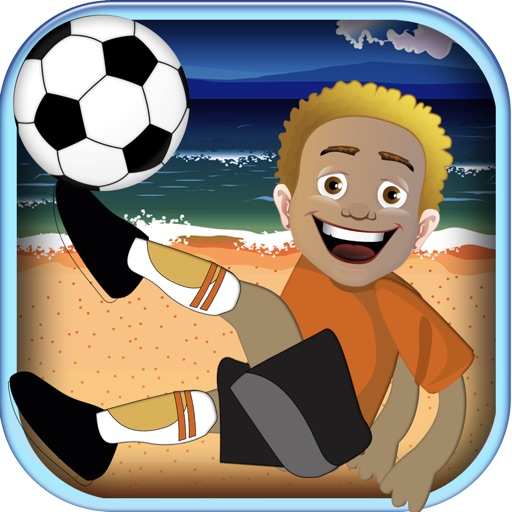 A flick soccer games challenge - be the ultimate beach football goal keeper FREE