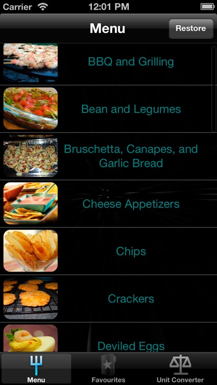 Appetizer Recipes for iPhone, iPad and iPod
