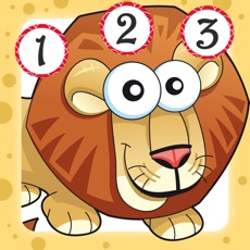 Activities of Savannah counting game for children: Learn to count the numbers 1-10 with safari animals