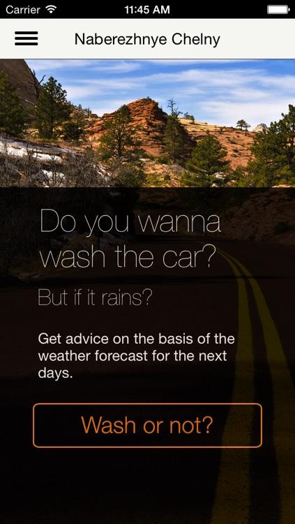Wash a car?