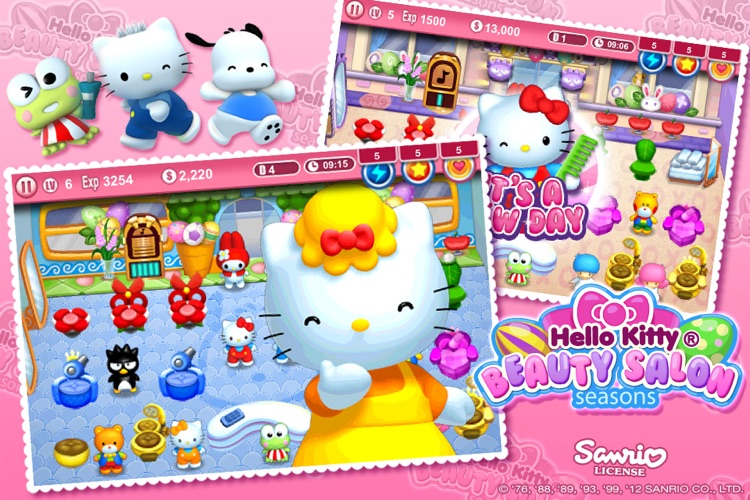 Hello Kitty Beauty Salon Seasons screenshot-3