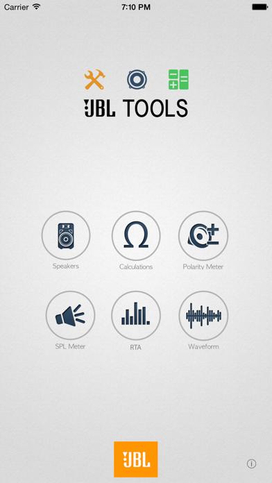JBL Tools screenshot one