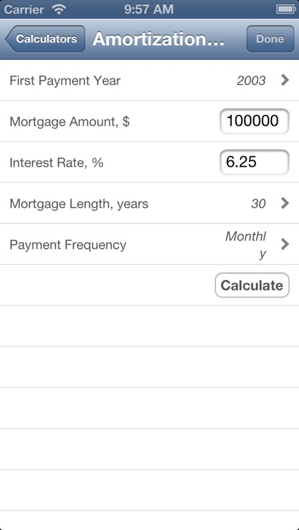 Mortgage and Financial Calculator Suite