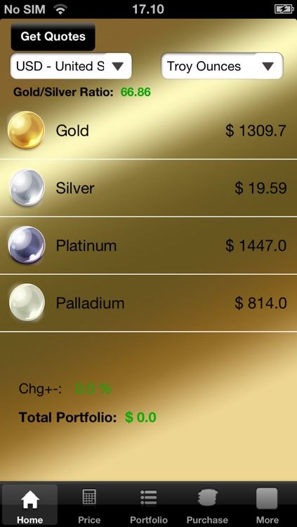 Gold and Silver Bullion Tracker