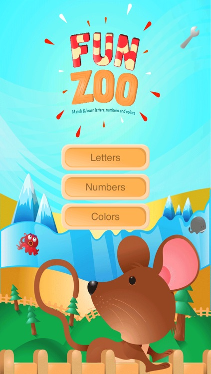 Fun Zoo - Match and Learn Letters, Numbers and Colors - Lite V
