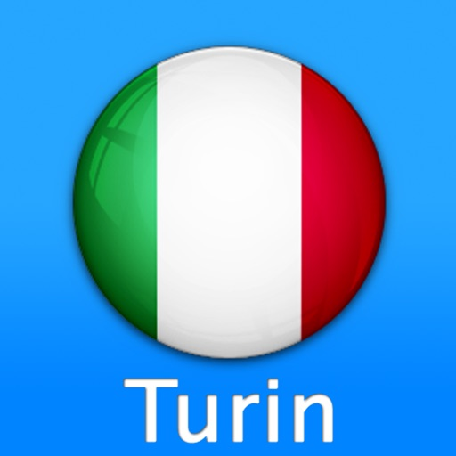 Turin Travel Map (Italy)