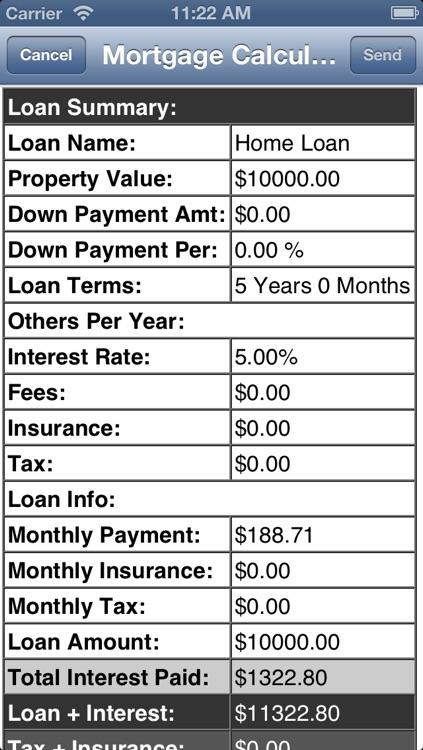 Mortgage Calculator. Lite screenshot-3