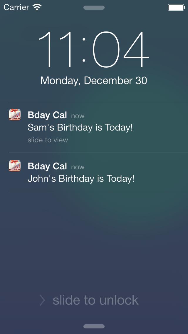 Birthday Reminder & Calendar+ screenshot three