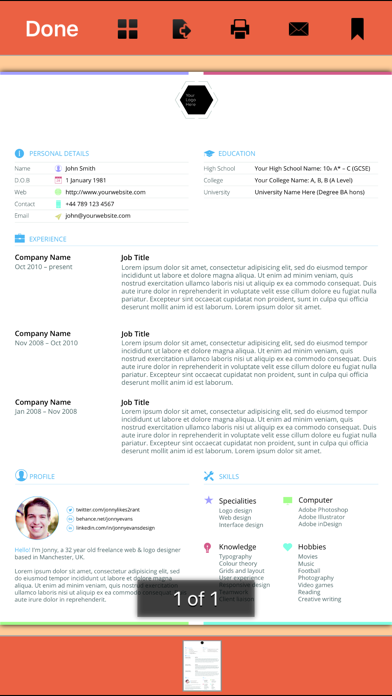 333 Resume Templates Screenshot
