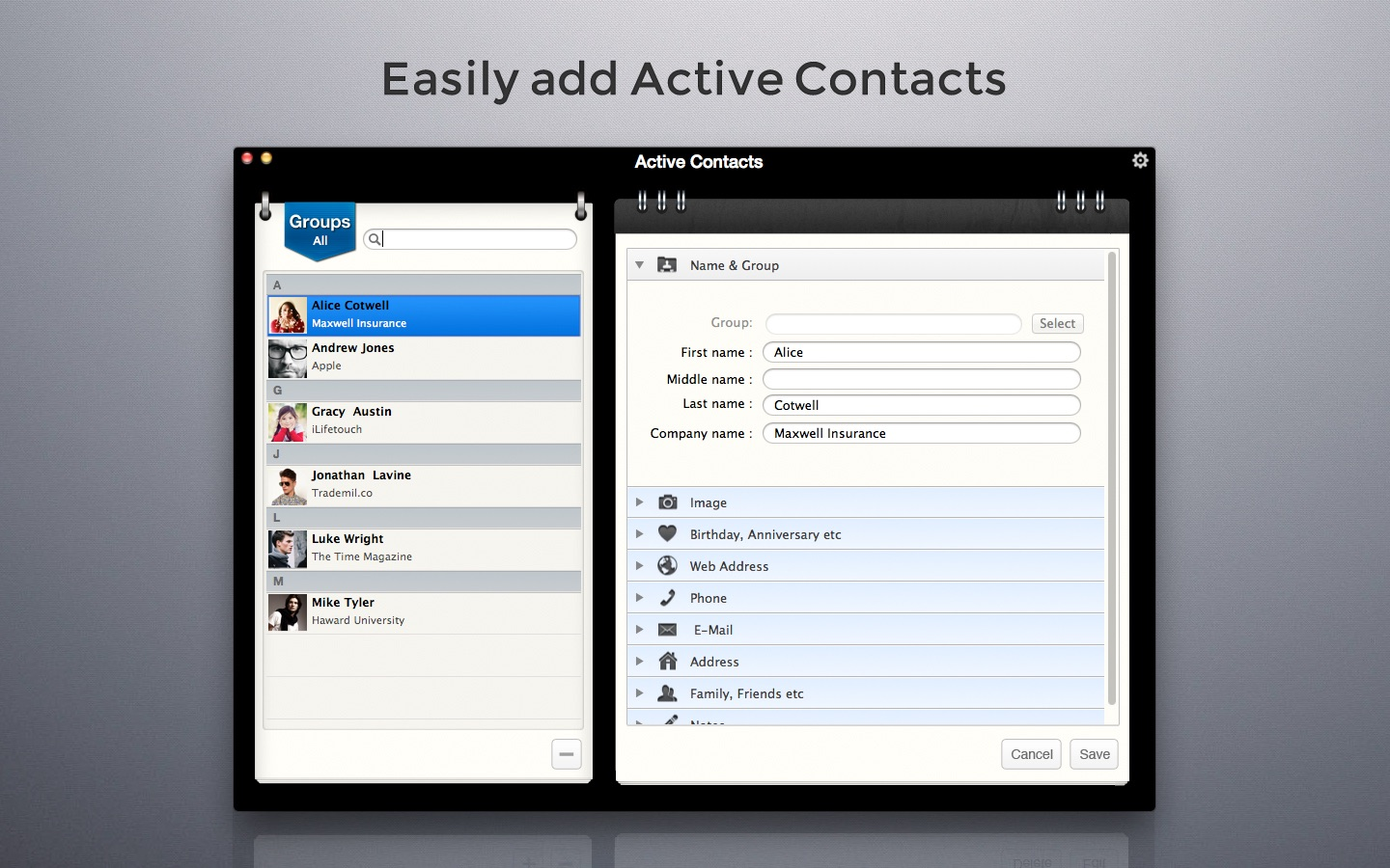 ‎Active Contacts on the Mac App Store