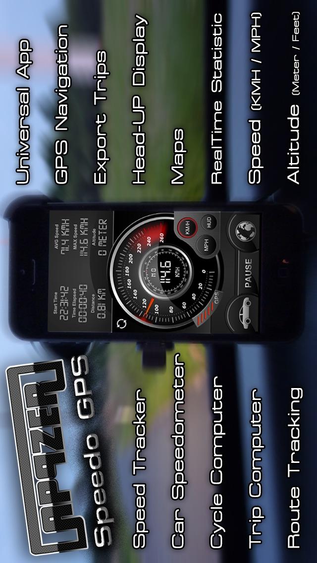 Speedo GPS Speed   Tracker, Velocímetro del coche, ordenador de bicicleta, Computadora De Viaje, seguimiento de ruta, HUD Screenshot
