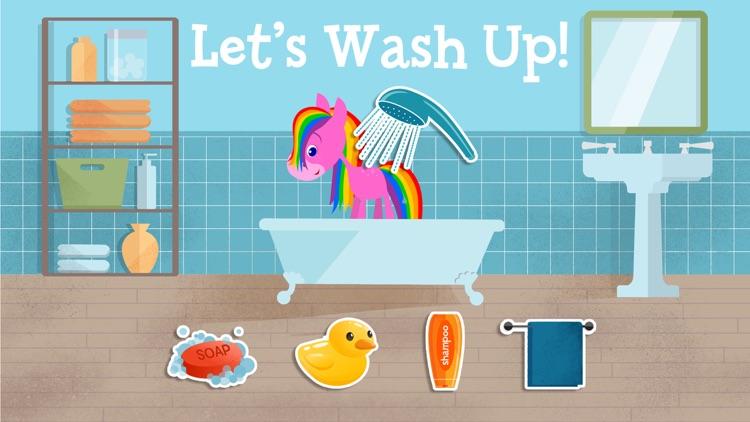 My Pet Rainbow Horse: Virtual Pet Game for Kids screenshot-3
