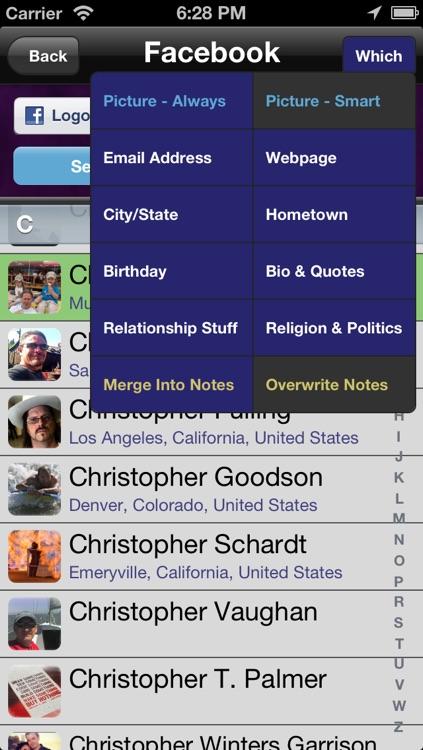 Moe's Contacts Free screenshot-3