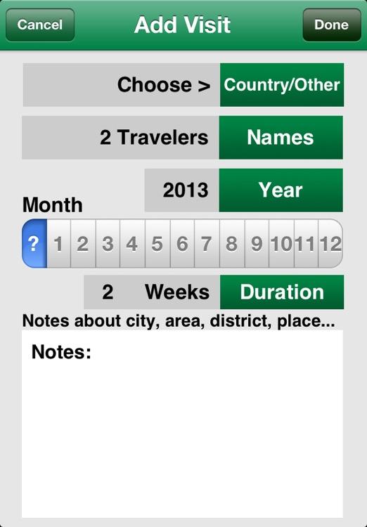 Countries Visited • World Travel Log screenshot-3