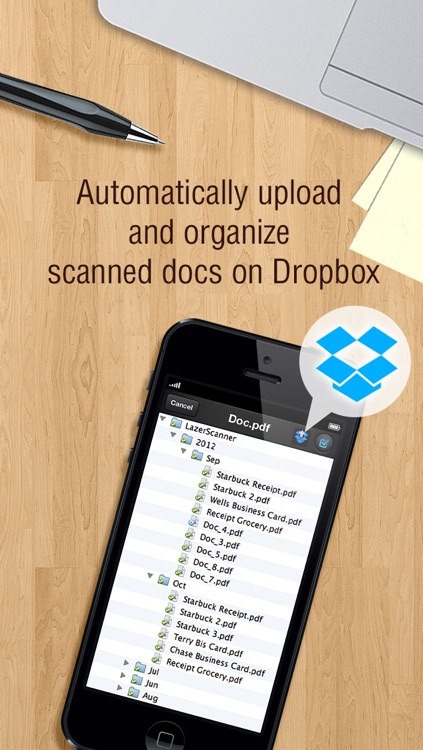 LazerScanner - Scan multiple doc to pdf and auto upload to Dropbox screenshot-4