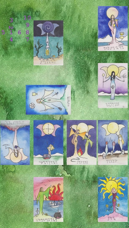 Beth Seilonen's Witches Arcana II, Daughters of Gaia Tarot