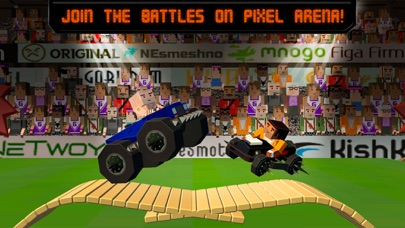 Pixel Car Fighting Arena 3D screenshot one