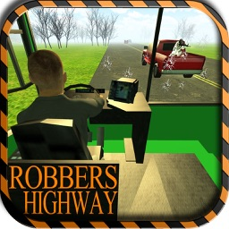 Mountain bus driving & dangerous robbers attack - Escape & drop your passengers safely