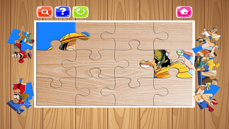 Cartoon Hero One Piece and Friend Jigsaw Puzzle - Free Games For Kids and Kindergarten