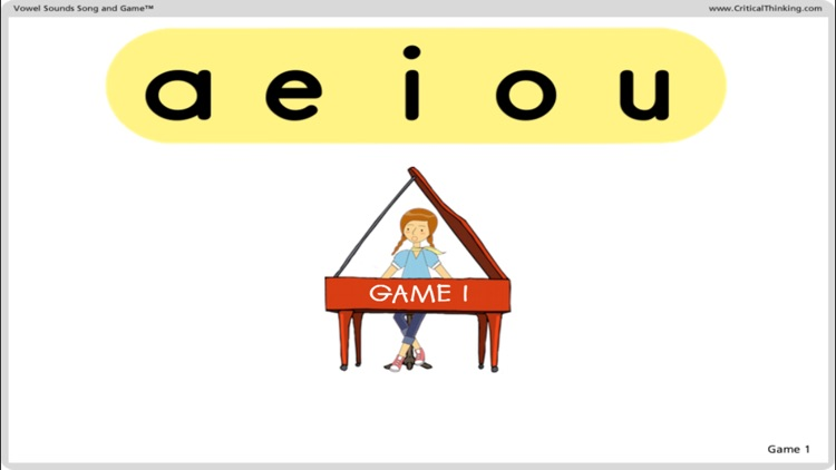 Vowel Sounds Song and Game™ screenshot-1