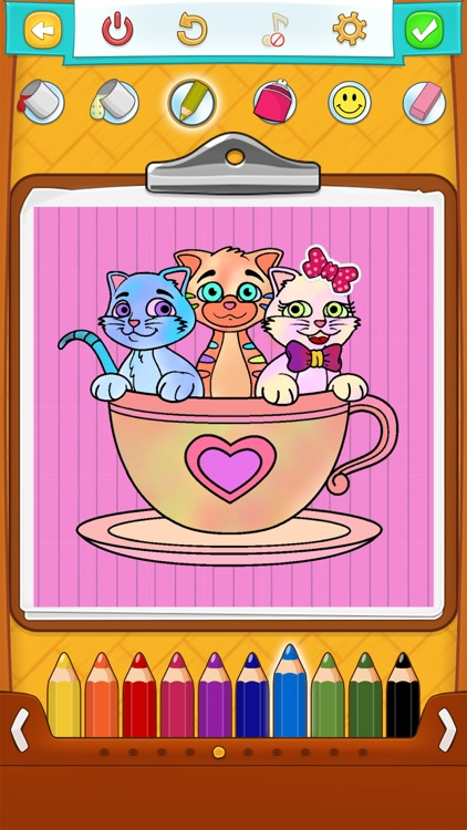 Kitty Cat Coloring Pages screenshot-1