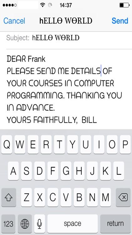 Hybrid Fonts : ⓒⓞⓞⓛ Text Fonts screenshot-4