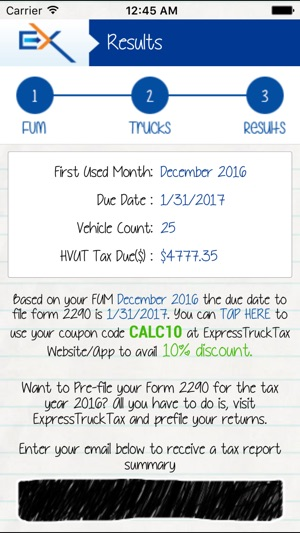 Form 2290 Tax Calculator On The App Store