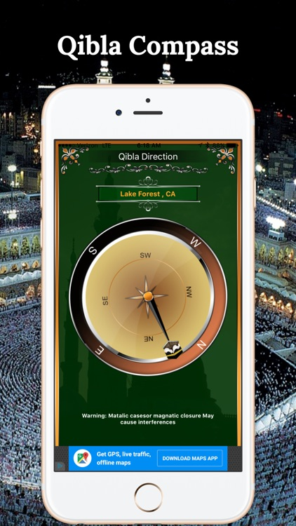 Simple Qibla Compass-Free screenshot-3
