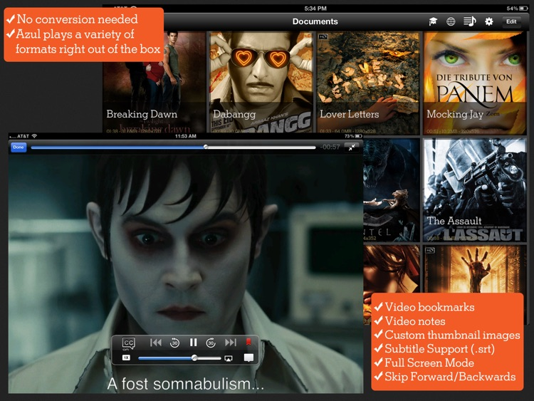 Azul Media Player - Video player for your iPad
