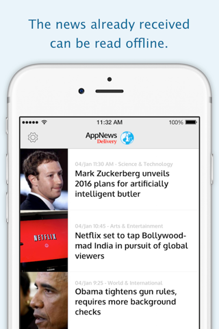 Screenshot of AppNews Delivery
