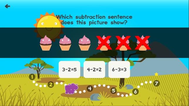 Animal Math 1st Grade Math Screenshot