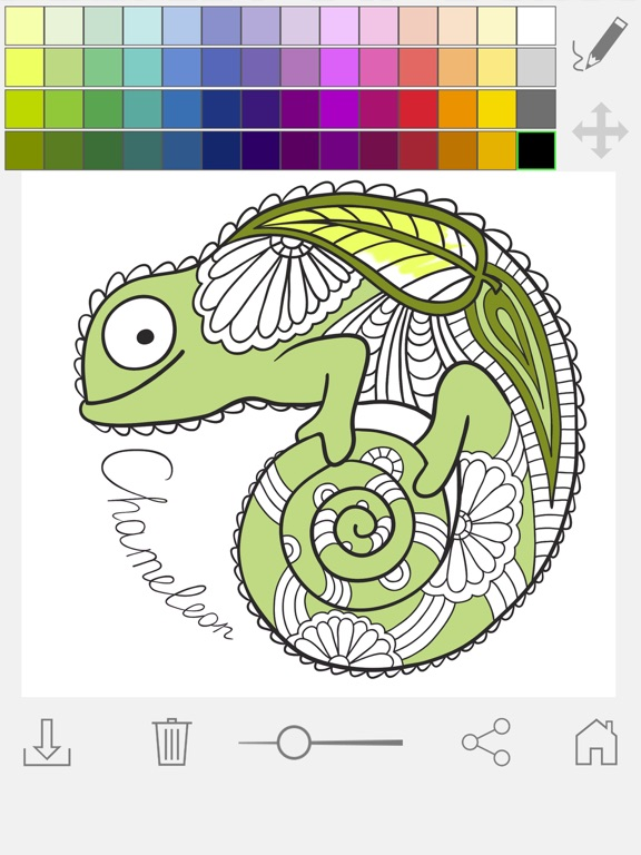 Screenshot 4 For Paint Color Mandalas Coloring Book Adults