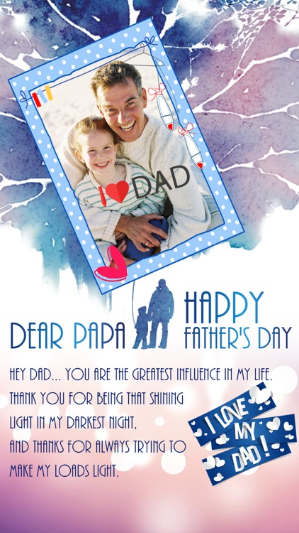 Father's Day Photo Frame.s, Sticker.s & Greeting Card.s Make.r Pro