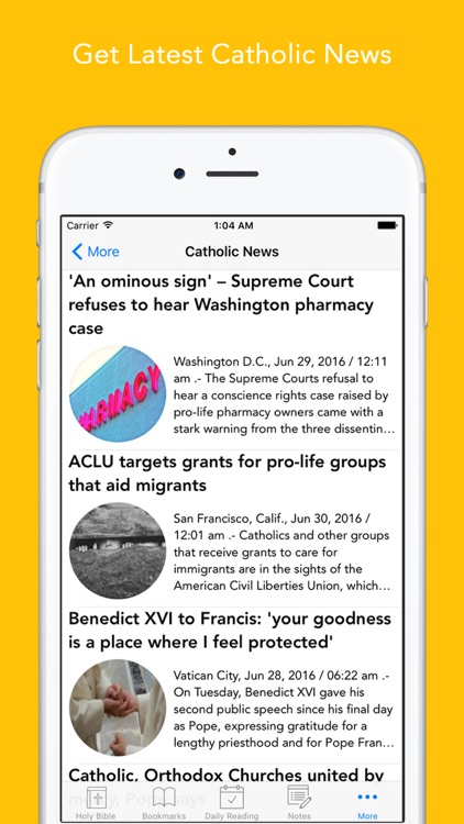 Catholic Bible: Bible with Catholic News and Saint a day, daily readings app for Catholics screenshot-4