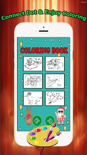 Brain dots Coloring Book - Christmas & Santa claus coloring pages ...