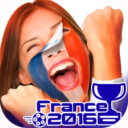 Flag Face Photo Stickers for Euro Cup 2016 - Best Picture Editor for all Football Fans