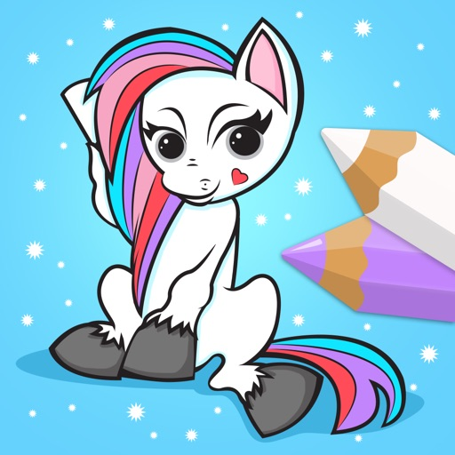 Pony and Unicorn - Coloring Book for Little Boys, Little Girls and Kids
