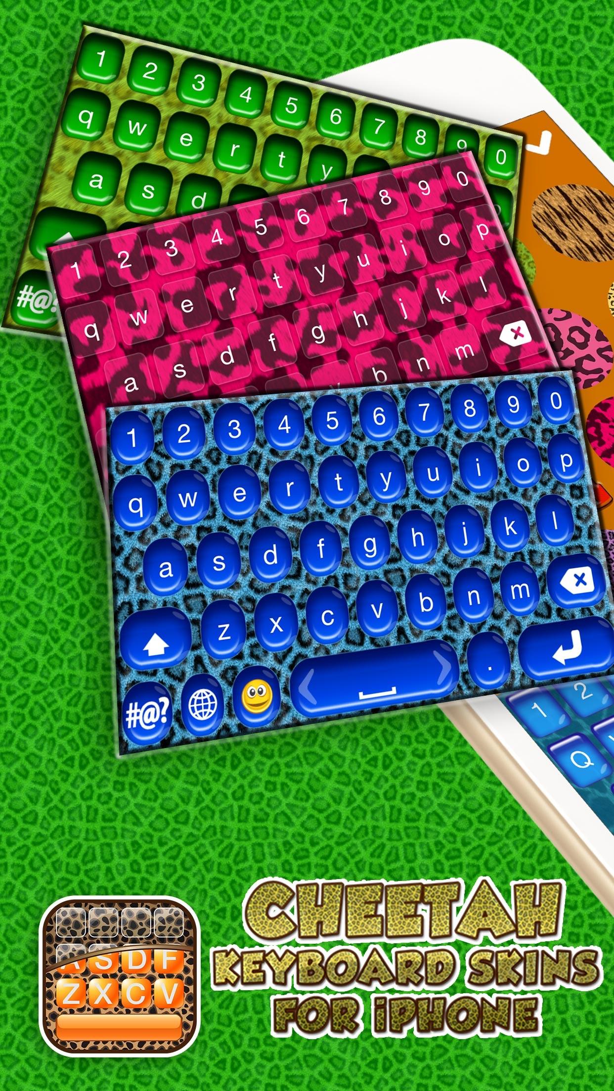 Cheetah Keyboard Skins for iPhone – Animal Print Design.s and Custom Themes Free Screenshot