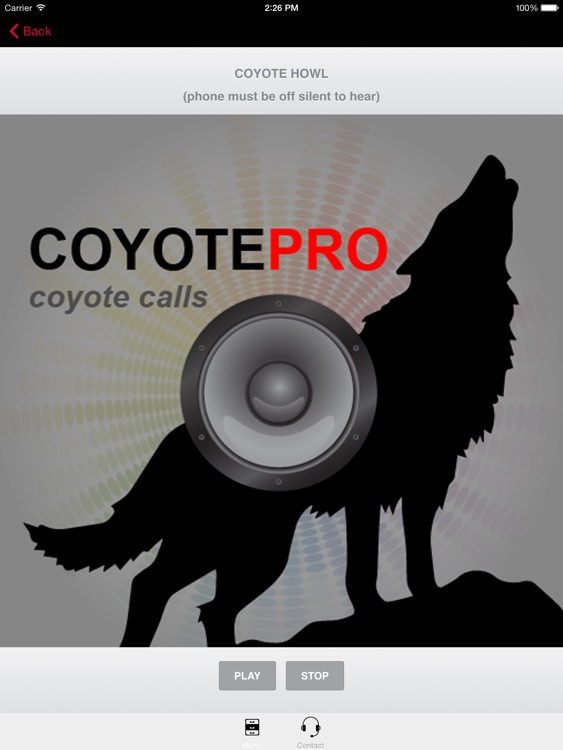 REAL Coyote Hunting Calls -- Coyote Calls & Coyote Sounds for Hunting (ad free) BLUETOOTH COMPATBLE screenshot-3
