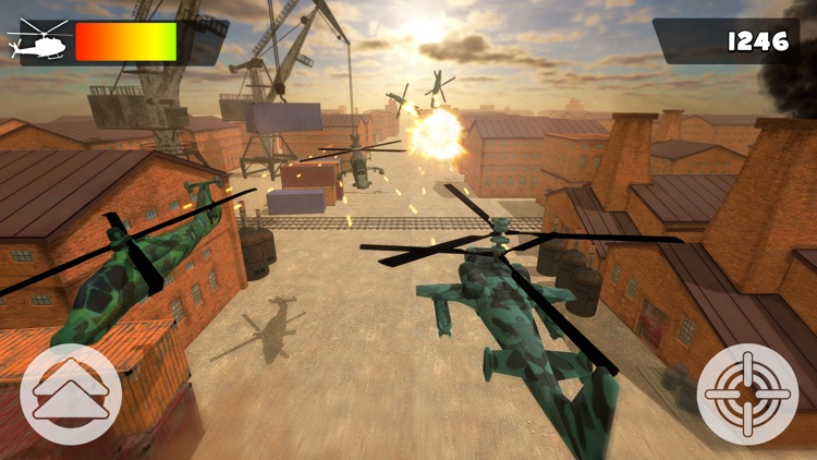 Helicopter Fighter Pilot Controller Simulator Game For Free screenshot-4